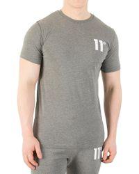 11 Degrees - Charcoal Core Logo T-shirt - Lyst