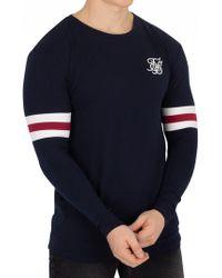 bffc6ef131068 Sik Silk - Blue Longsleeved Tournament T-shirt - Lyst