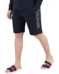Tommy Hilfiger - Navy Blazer Graphic Sweat Shorts - Lyst