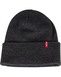 c0146f5a4ee Lyst - Levi s Slouchy Red Tab Beanie Hat Grey in Gray for Men
