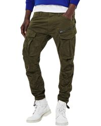 G-Star RAW - Dark Bronze Green Tapered Rovic 3d Cargos - Lyst