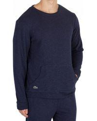 Lacoste - Blue Longsleeved Pyjama Top - Lyst
