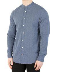 Tommy Hilfiger - Maritime Blue/bright White Slim Indigo Fine Shirt - Lyst