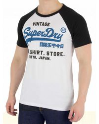Superdry SHOP DUO RAGLAN TEE - Camiseta print - optic/night club eggVGKdGlW