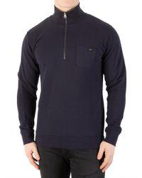 Edwin - Navy Warm Up Pullover Sweatshirt - Lyst