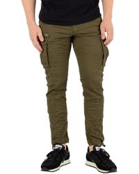 Jack & Jones - Olive Night Paul Chop Cargos - Lyst