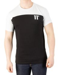 11 Degrees - Pearl Green/black Block T-shirt - Lyst