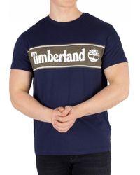f88b489f069 Timberland - Navy Cut And Sew T-shirt - Lyst