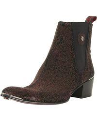 Jeffery West - Zuchero Red/para Viv Black Leather Sylvian Boots - Lyst