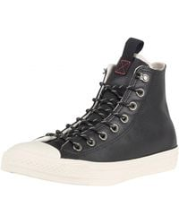 Converse - Black/driftwood Ct All Star Leather Trainers - Lyst
