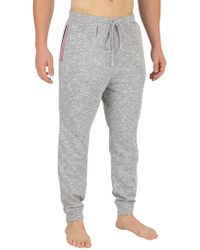Lacoste - Grey Melange Stripe Pyjama Bottoms - Lyst