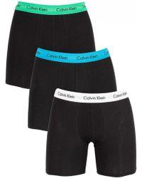 Calvin Klein - White/blue/green 3 Pack Trunks - Lyst