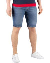 c0a54bb4 Levi's - Levis Men's 502 Taper Hemmed Shorts, Blue Men's Shorts In Blue -  Lyst