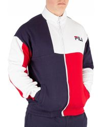 0ba4d33fa89b Lyst - Fila Vintage Peacoat Courto Track Top in Blue for Men