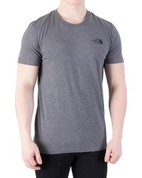 The North Face - Mid Grey Heather Simple Dome Marled Logo T-shirt - Lyst