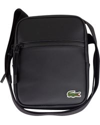 Lacoste - Black S Flat Crossover Bag - Lyst