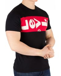 Levi's - Black/lychee Tab Panel T-shirt - Lyst