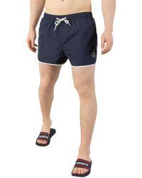 CALVIN KLEIN 205W39NYC - Blue Shadow Short Runner Swim Shorts - Lyst