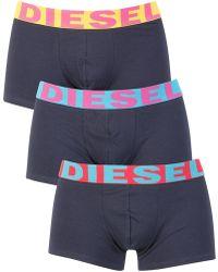 DIESEL - Red/blue/yellow 3 Pack Shawn Seasonal Trunks - Lyst