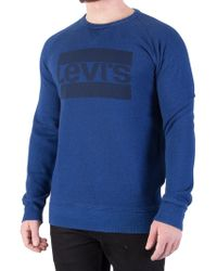 Levi's - Indigo Graphic Sweatshirt - Lyst