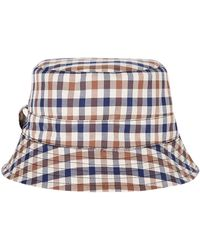 Aquascutum - Navy Reversible Bucket Hat - Lyst