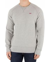 Levi's - Grey Heather Original Icon Sweatshirt - Lyst