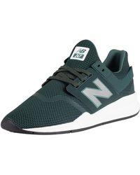 47aeb09eb607 New Balance - Green 247 Mesh Trainers - Lyst