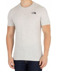 The North Face - Wild Oat Heather Simple Dome T-shirt - Lyst