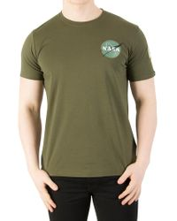 Alpha Industries - Dark Green Space Shuttle T-shirt - Lyst