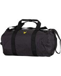Lyle & Scott - True Black Lightweight Barrel Bag - Lyst
