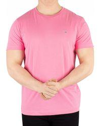 GANT - Pink Rose The Original T-shirt - Lyst