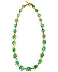 Darlene De Sedle - Cabachon Emerald Link Necklace - Lyst