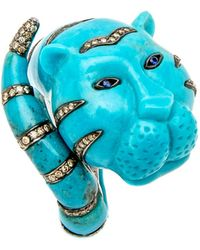 Wendy Yue - Turquoise Panther Ring - Lyst