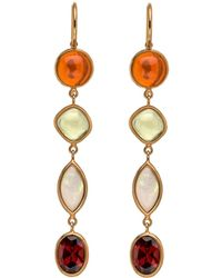 Darlene De Sedle - Long Drop Multi Gemstone Earrings - Lyst