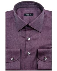 Marol - Purple Melange Twill Dress Shirt - Lyst