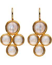 Darlene De Sedle | 22k Rainbow Moonstone 4 Bezel Drop Earrings | Lyst