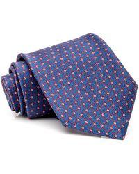 RVR | Blue And Red Geometric Tie | Lyst