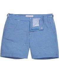 Orlebar Brown - Heron Powder Blue Gingham Bulldog Swim Shorts - Lyst