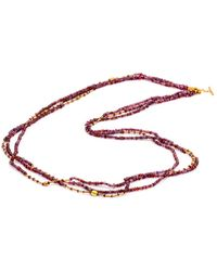 Yossi Harari - Garnet Mix Tribe Wrap Necklace - Lyst