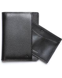 Hook + Albert - Black Bi Fold Wallet With Removable Card Holder - Lyst