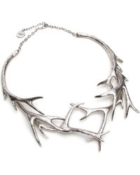 Nest - Silver Antler Collar Necklace - Lyst