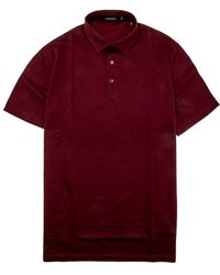 Ermenegildo Zegna - Burgundy Stripe Knit Polo - Lyst