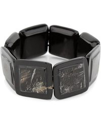 Nest - Black Horn Square Stretch Bracelet - Lyst