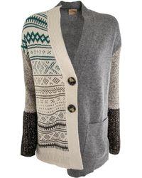 Nude - Knit Cardigan Grey Multicolor - Lyst