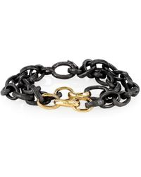 Nancy Newberg - Oxidized Silver Chain Link Double Bracelet - Lyst