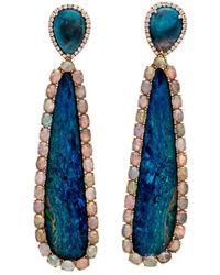 Wendy Yue - Opal Double Drop Earrings - Lyst