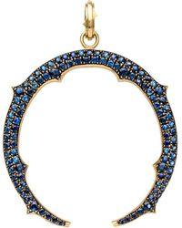 Sylva & Cie - Sapphire Horseshoe Pendant - Lyst
