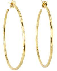 Nest - Thin Gold Hoop Earrings - Lyst