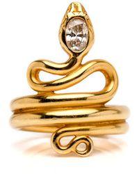 Darlene De Sedle - Diamond Coiled Snake Ring - Lyst