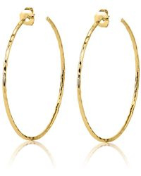 Nest - Large Hammered Gold Hoop Earrings - Lyst